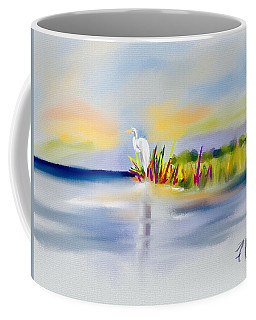 Egret Bliss Coffee Mug by Frank Bright