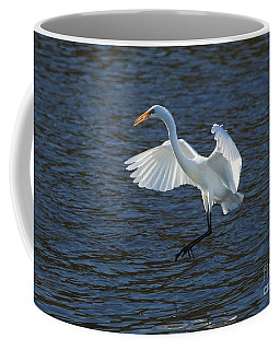 Egret Fishing Coffee Mug