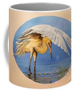 Chloe The  Flying Lamb Productions                  Egret Fishing Coffee Mug