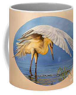 Chloe The  Flying Lamb Productions                  Egret Fishing Coffee Mug
