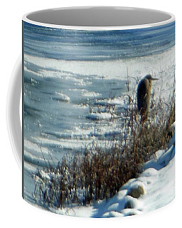 Egret Frozen Lake Coffee Mug