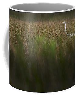 Egret In Swamp-3-0711 Coffee Mug