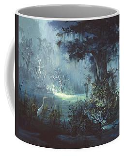 Egret In The Shadows Coffee Mug