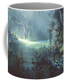 Egret In The Shadows Coffee Mug