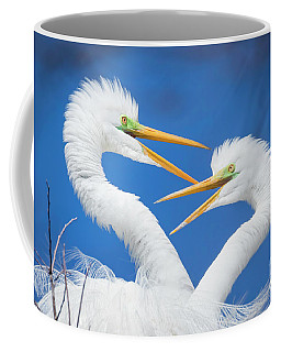 Egret Love Coffee Mug