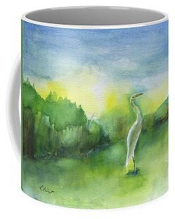Egret Pose Coffee Mug