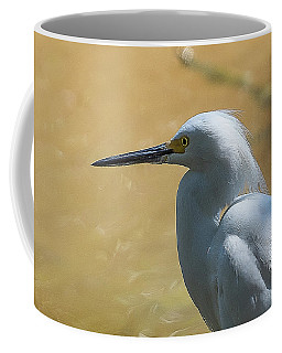 Egret Pose Coffee Mug