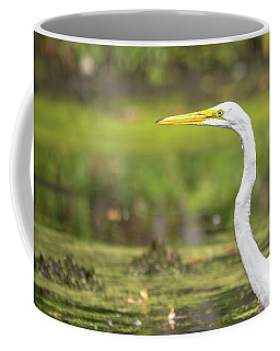 Egret Profile Coffee Mug by Cheryl Baxter