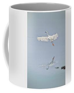 Egret Takes Flight Coffee Mug