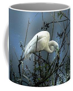 Egret Under Marina Lights Coffee Mug