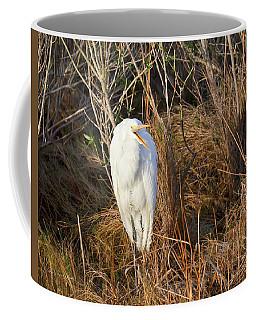 Egret With Something To Say Coffee Mug