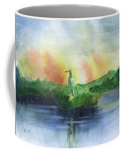 Egret's Horizon Coffee Mug