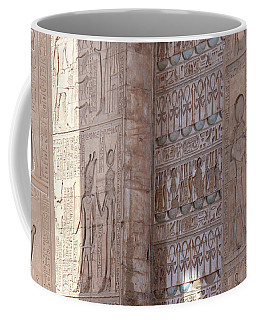 Coffee Mug featuring the photograph Egyptian Hieroglyphs by Silvia Bruno
