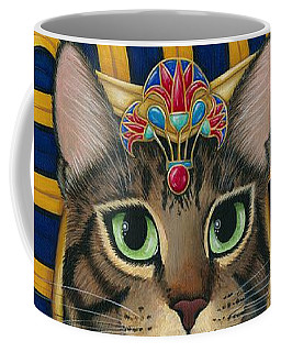 Egyptian Pharaoh Cat - King Of Pentacles Coffee Mug