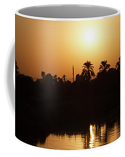 Coffee Mug featuring the photograph Egyptian Sunset by Silvia Bruno