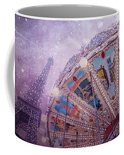 Coffee Mug featuring the photograph Eiffel Tower And Carousel by Clare Bambers
