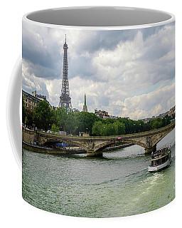 Eiffel Tower And The River Seine Coffee Mug