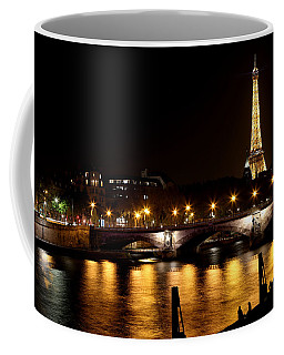 Coffee Mug featuring the photograph Eiffel Tower At Night 1 by Andrew Fare