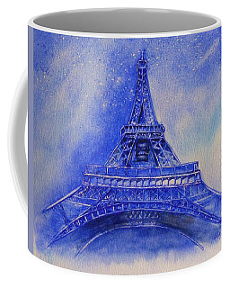 Coffee Mug featuring the painting Eiffel Tower Nights by Kelly Mills