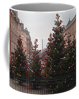 Eiffel Tower Peek-a-boo From The Pantheon Panorama Coffee Mug
