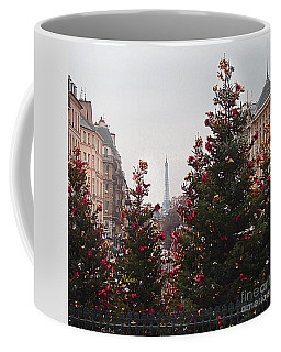 Eiffel Tower Peek-a-boo From The Pantheon Square Coffee Mug