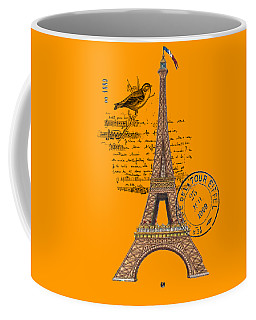 Eiffel Tower T Shirt Design Coffee Mug