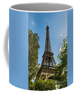 Eiffel Tower Through Trees Coffee Mug