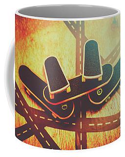 Eighties Street Skateboarders Coffee Mug