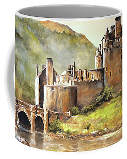 Coffee Mug featuring the painting Eilean Donan Castle by Alan Lakin