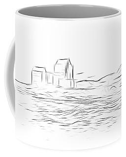 Eilean Donan Castle Digital Art Coffee Mug