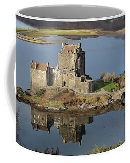 Coffee Mug featuring the photograph Eilean Donan Castle Reflections by Maria Gaellman