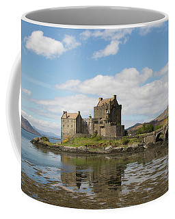 Coffee Mug featuring the photograph Eilean Donan Castle - Scotland by Karen Van Der Zijden