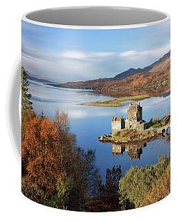 Coffee Mug featuring the photograph Eilean Donan In Autumn - Dornie by Grant Glendinning