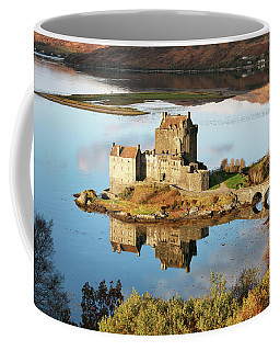 Coffee Mug featuring the photograph Eilean Donan - Loch Duich Reflection - Skye And Lochalsh by Grant Glendinning