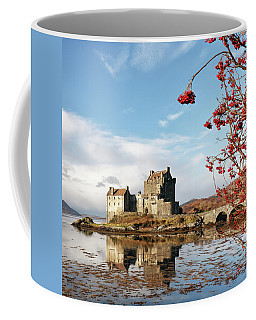 Coffee Mug featuring the photograph Eilean Donan - Loch Duich Reflection - Skye by Grant Glendinning
