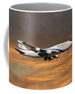El Al Israel Airlines Boeing 747-458 3 Coffee Mug