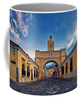 Coffee Mug featuring the photograph El Arco De Santa Catarina, Antigua, Guatemala by Sam Antonio Photography