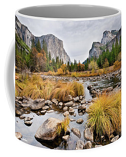 El Capitan And The Merced River In The Fall Coffee Mug