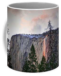 El Capitan Glowing Horsetail Falls Coffee Mug
