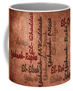 Coffee Mug featuring the digital art El-olam by Angelina Vick