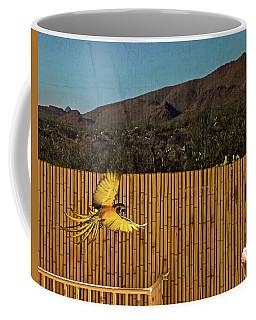 El Paso Zoo - Macaw Parrot Coffee Mug by Allen Sheffield