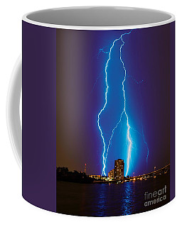 Electric Blue Coffee Mug by Quinn Sedam
