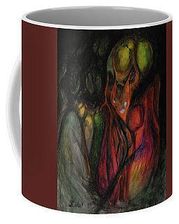 Coffee Mug featuring the painting Elder Keepers by Christophe Ennis