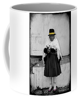 Elderly Beggar In Biblian Coffee Mug by Al Bourassa