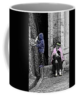 Coffee Mug featuring the photograph Elderly Beggar In Biblian II by Al Bourassa