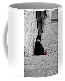 Coffee Mug featuring the photograph Elderly Beggar In Chordeleg by Al Bourassa