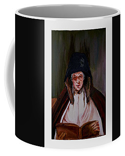 Elderly Lady Reading A Book Coffee Mug