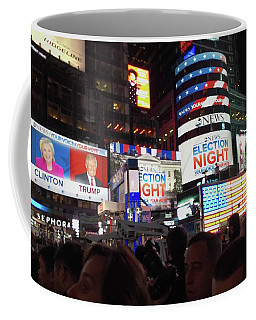 Election Night In Times Square 2016 Coffee Mug