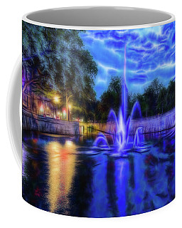 Coffee Mug featuring the photograph Electric Fountain  by Scott Carruthers