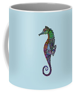 Coffee Mug featuring the drawing Electric Gentleman Seahorse by Tammy Wetzel